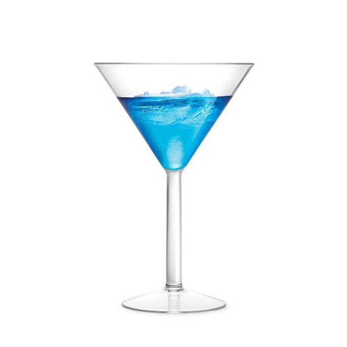 Shatter-resistant Martini Glasses
