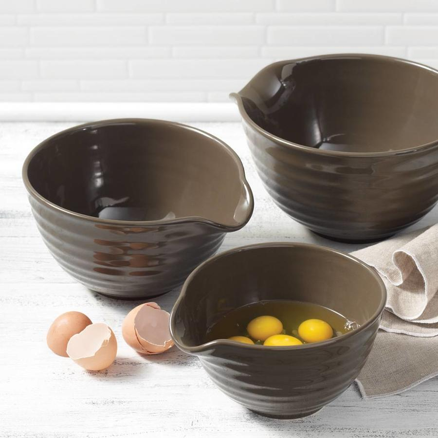 Set of 3 Stoneware Mixing Bowls - Photo 3