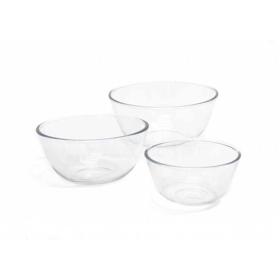 Ensemble de 3 bols à mélanger en verre - Photo 0