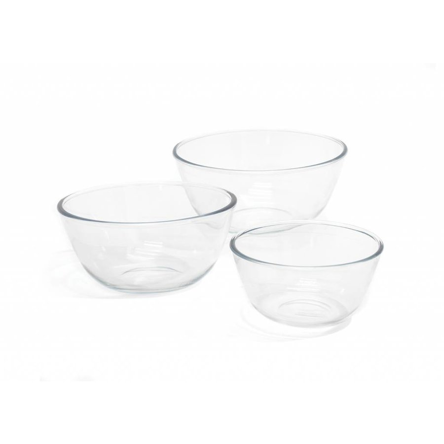 Set of 3 Glass Mixing Bowls - Photo 0