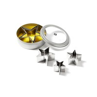 Set of 6 Stainless Steel Star Cookie Cutters