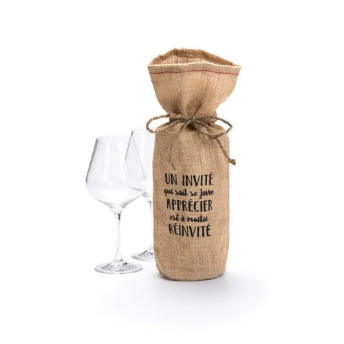 """Un invité"" Wine Bag"