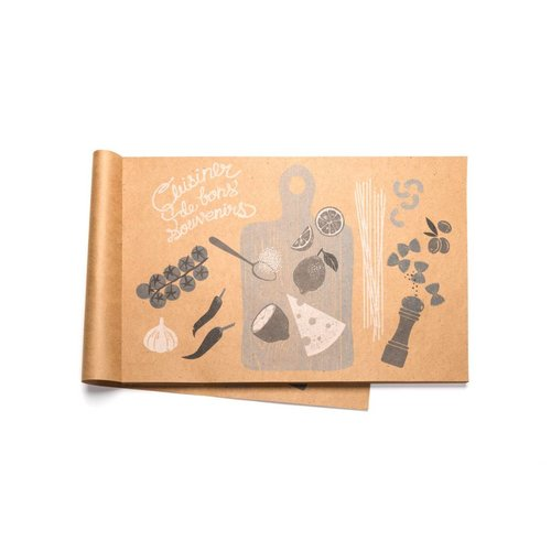Napperons de papier «Cuisiner de bonssouvenirs»