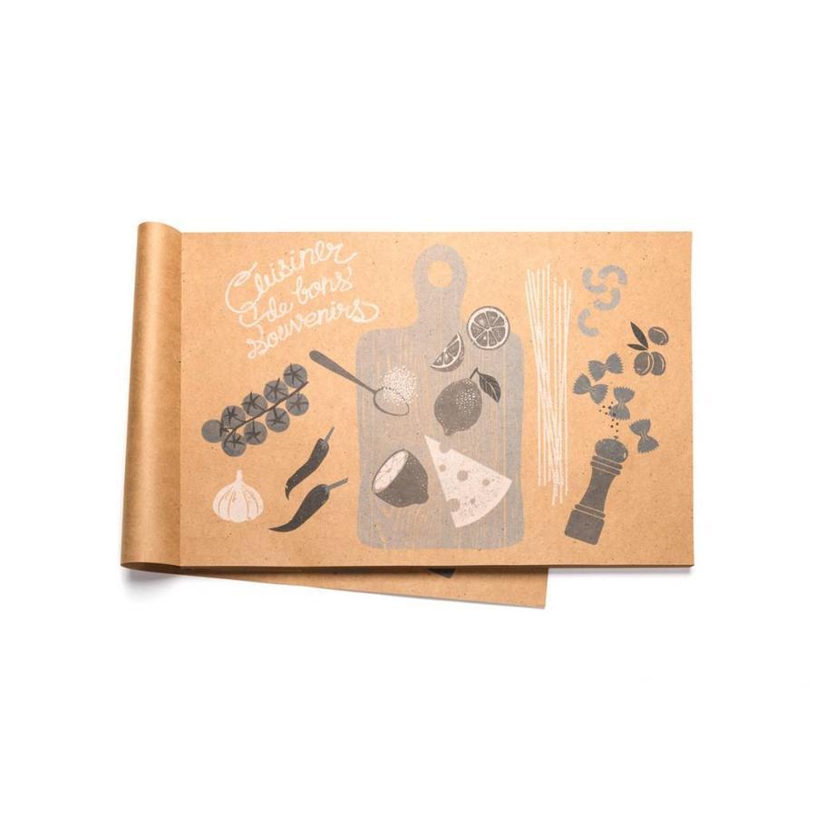 """""""Cuisiner de bons souvenirs"""" Paper Placemats - Photo 0"""