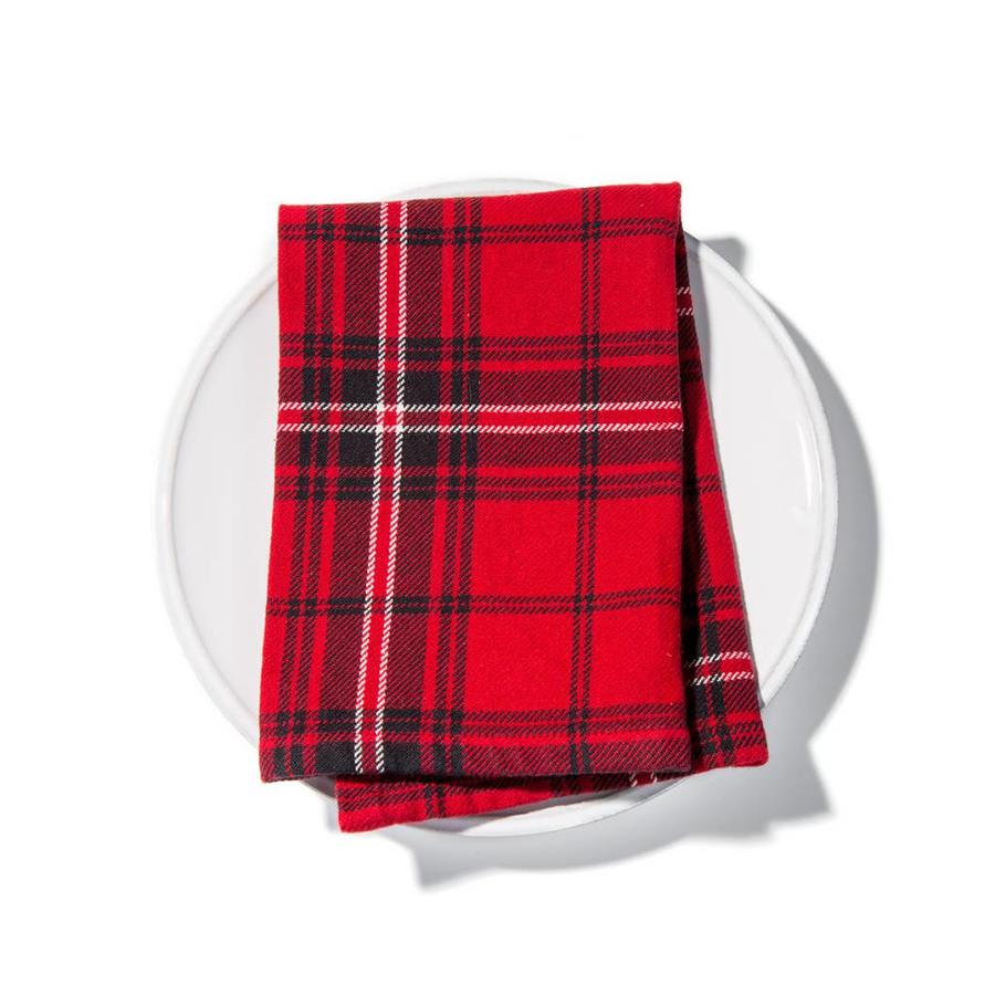 Red Checkered Napkins - Photo 1