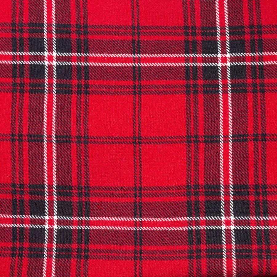 Serviettes de table rouges à carreaux - Photo 2