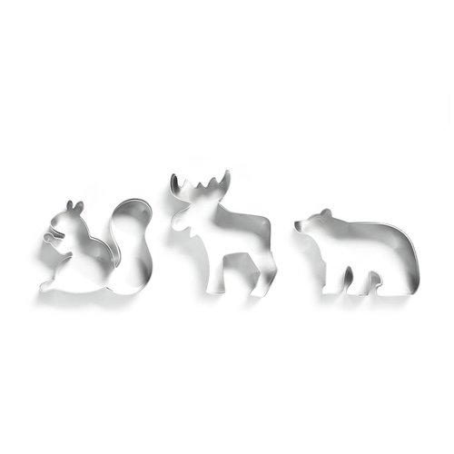 Emporte-pièces en forme d'orignal, d'écureuil et d'ours polaire