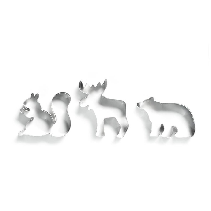 Cookie Cutter Set in the Shape of a Moose, Squirrel and Polar Bear - Photo 0