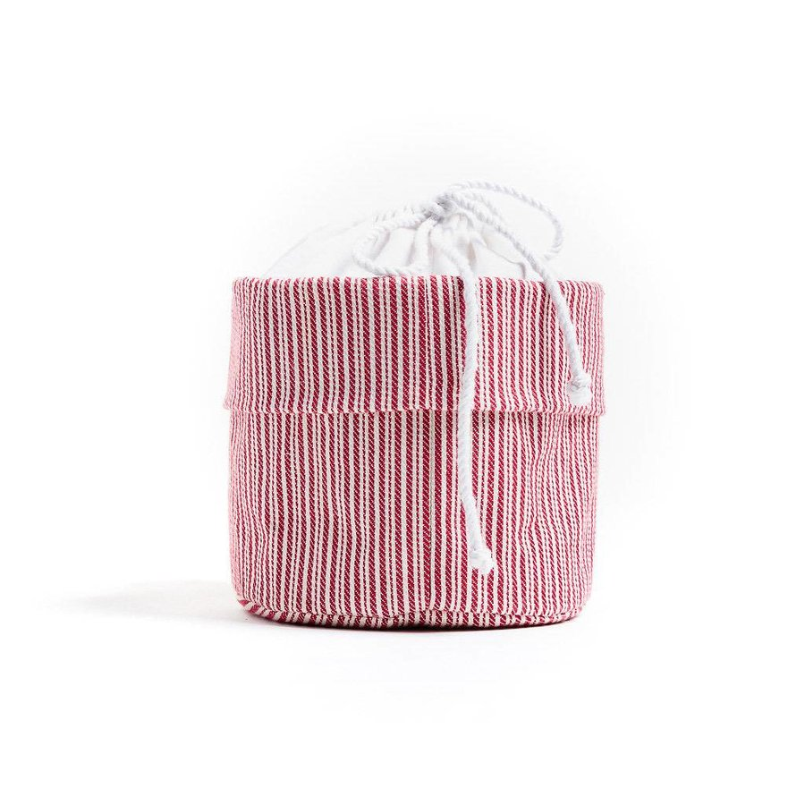 Red and White Striped Bag for Warm Bread - Photo 1
