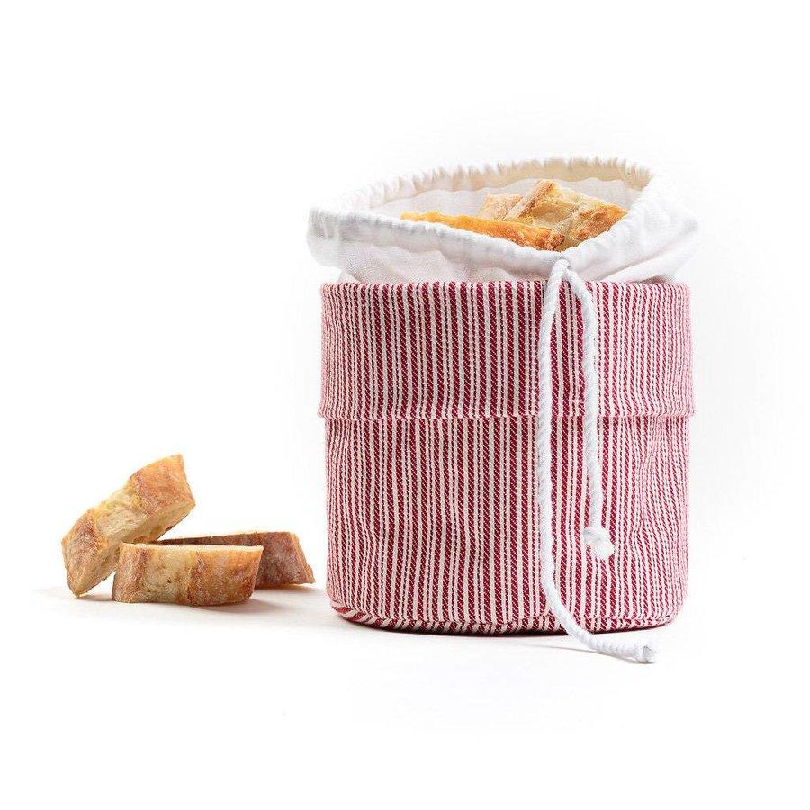 Sac à pain chaud rayé rouge et blanc - Photo 0