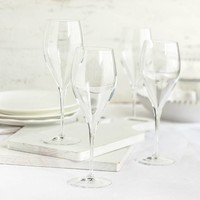 Ensemble de 6 verres à champagne en cristallin de 30 cl (10 oz)