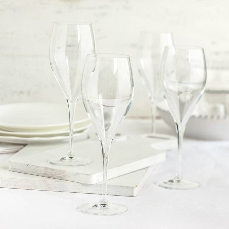 Set of 6 Crystal Champagne Glasses - Photo 1