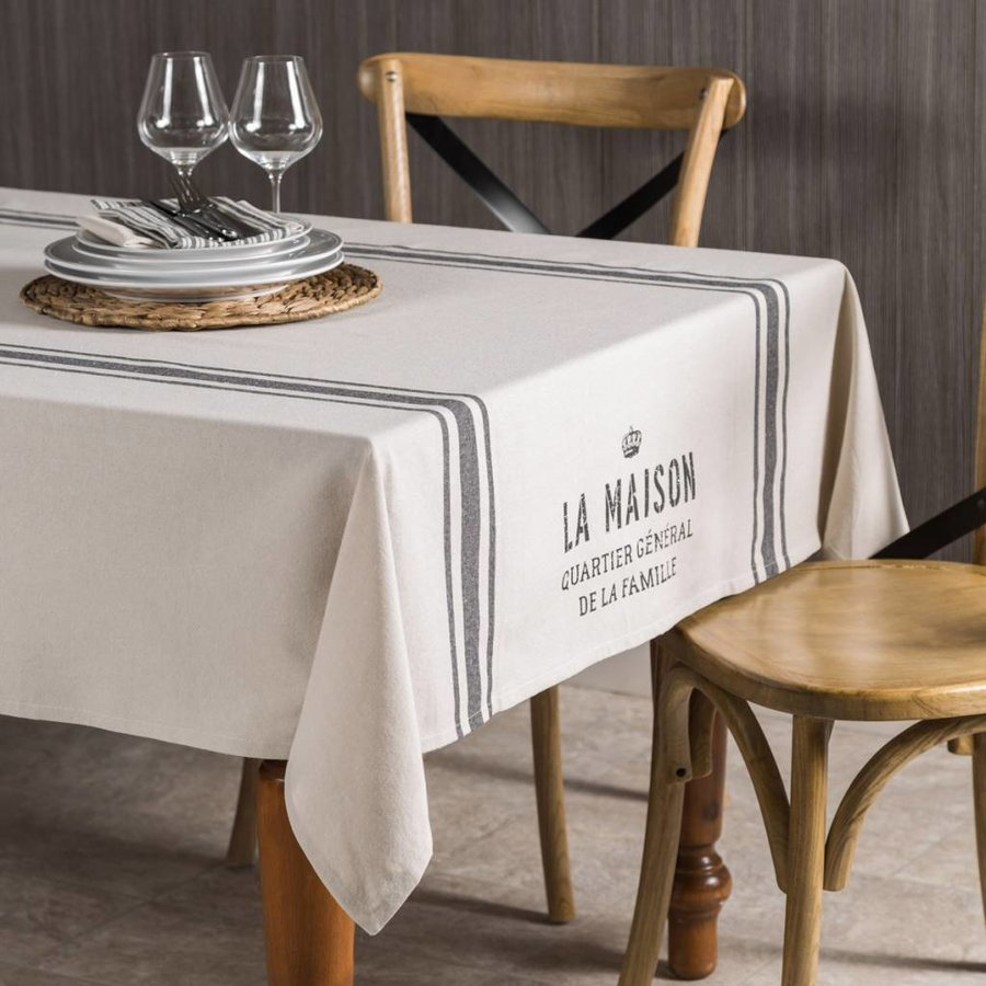 """La maison, quartier général"" Tablecloth - Photo 0"