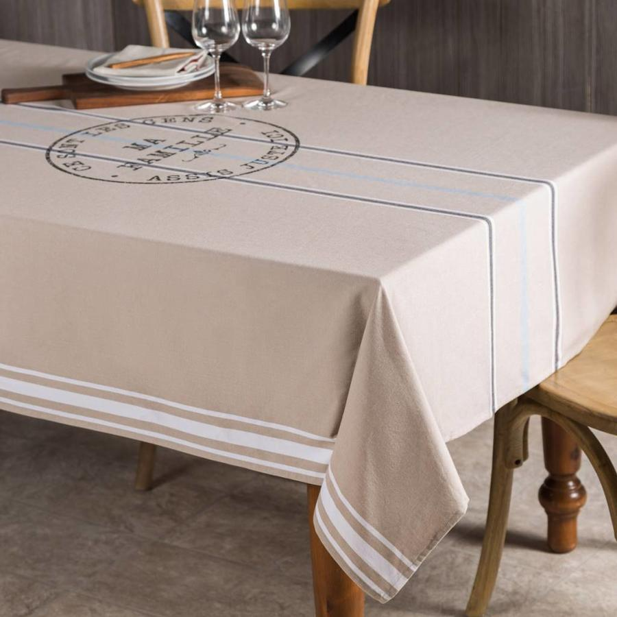 """Ma Famille"" Chambray tablecloth - Photo 0"