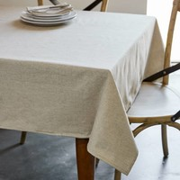 Beige Chambray Tablecloth