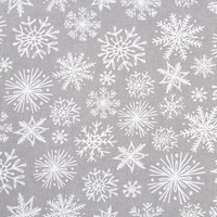 Grey Tablecloth with White Snowflakes