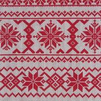 Tablier en tweed à chevrons avec imprimés rouges