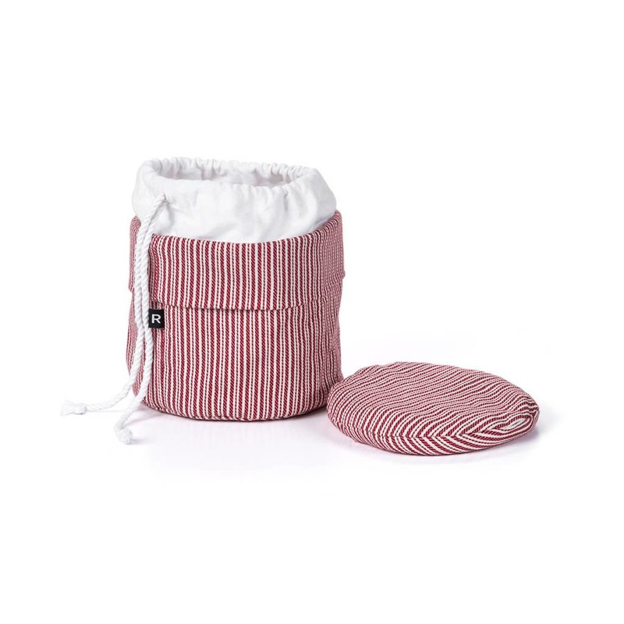 Red and White Striped Bag for Warm Bread - Photo 2