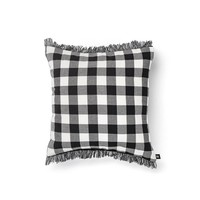 Black and White Checkered Cushion