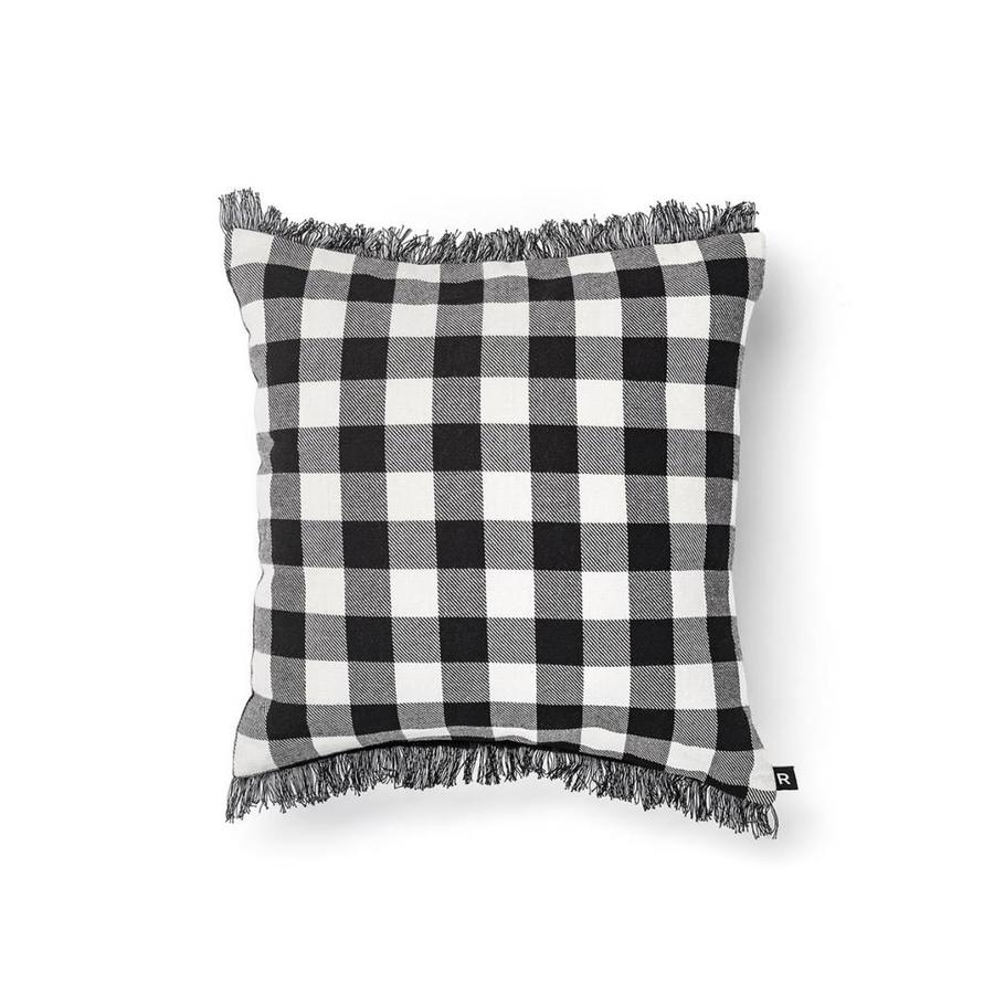 Black and White Checkered Cushion - Photo 0