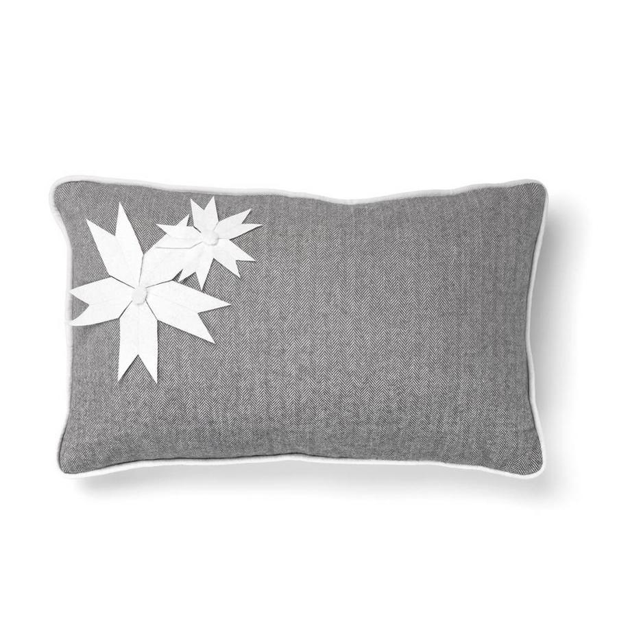 Grey Cushion with Herringbone Pattern - Photo 0
