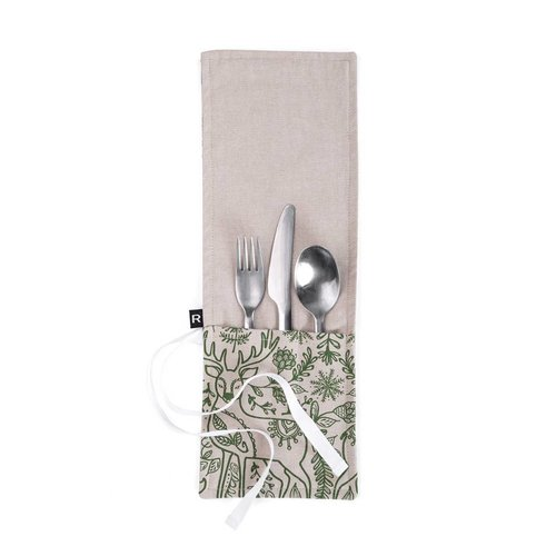 Nordic Forest Utensil Pouch for Lunch