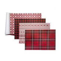 Assorted Red Paper Placemats