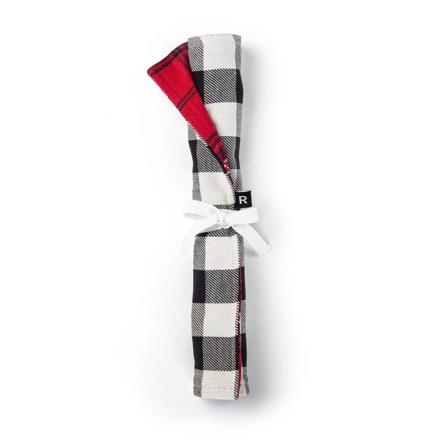 Red Checkered Lunch Placemat with Utensil Pocket - Photo 1
