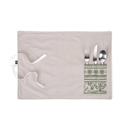 Nordic Forest Lunch Placemat with Utensil Pocket