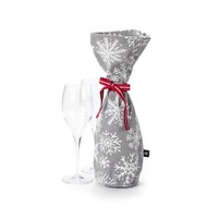 Champagne Bag with White Snowflakes