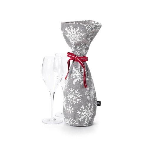 White Snowflake Champagne Bag