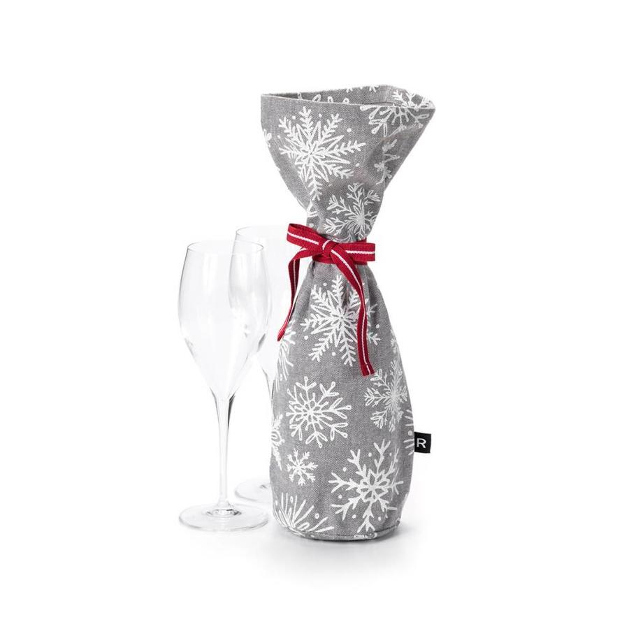 Champagne Bag with White Snowflakes - Photo 0