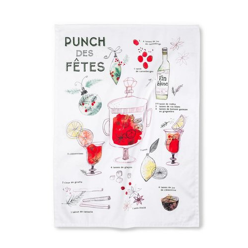 """Punch des fêtes"" Tea Towel"