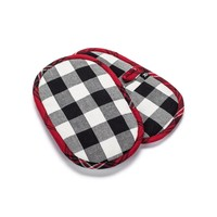 Black and White Checkered  Pot Holders