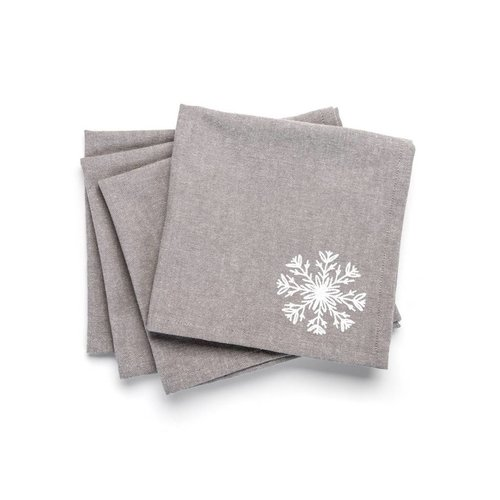 Napkins with White Snowflake