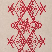 Nordic Forest Table Runner with Red Embroideries