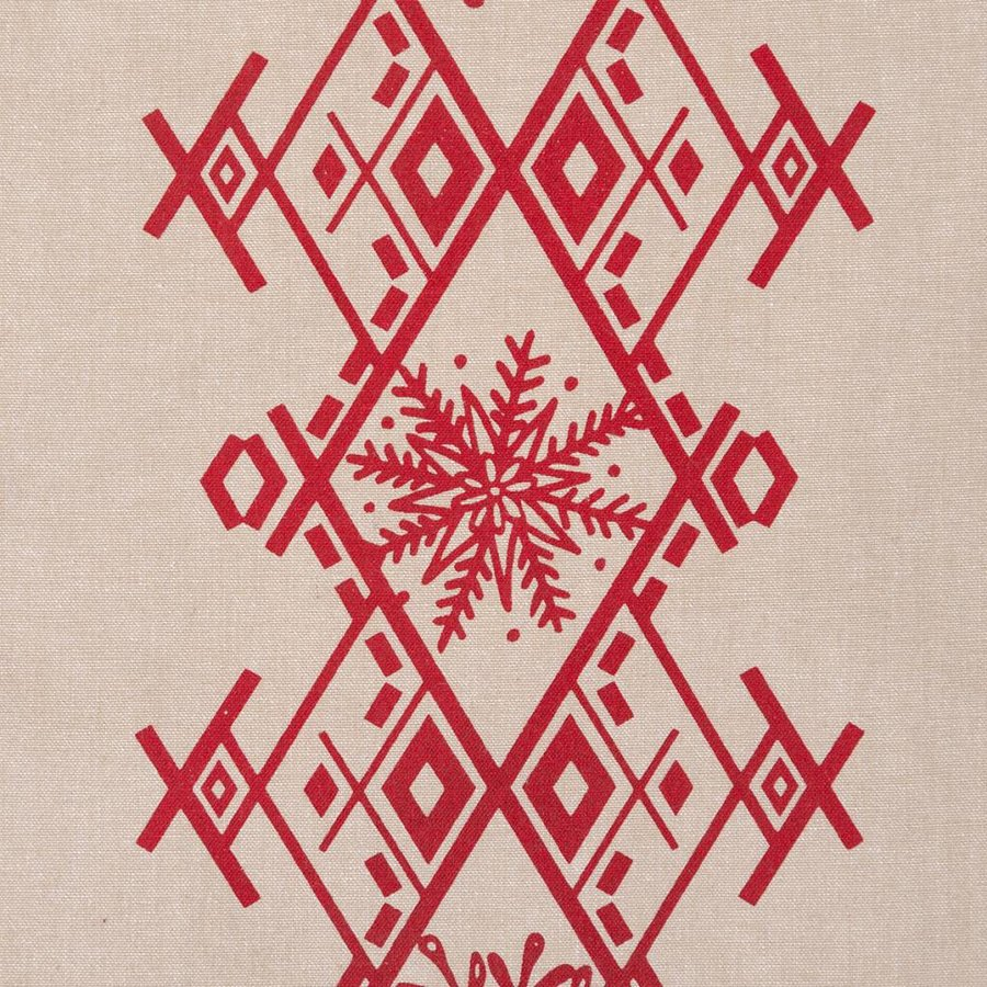 Nordic Forest Table Runner with Red Embroideries - Photo 1