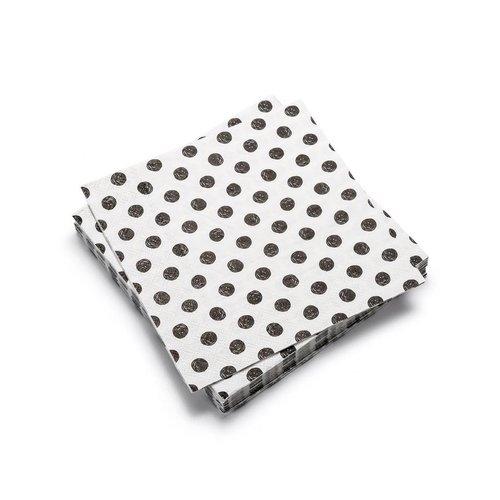 Serviettes de table en papier à motifs de pois