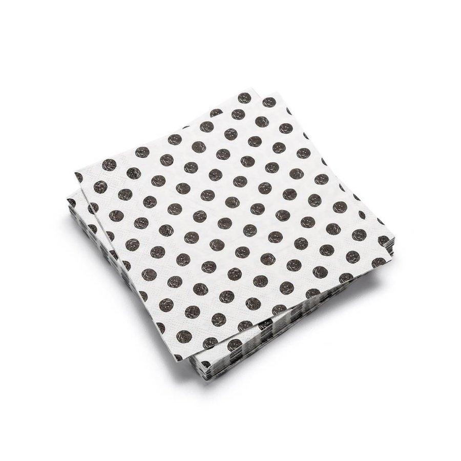 Serviettes de table en papier à motifs de pois - Photo 0