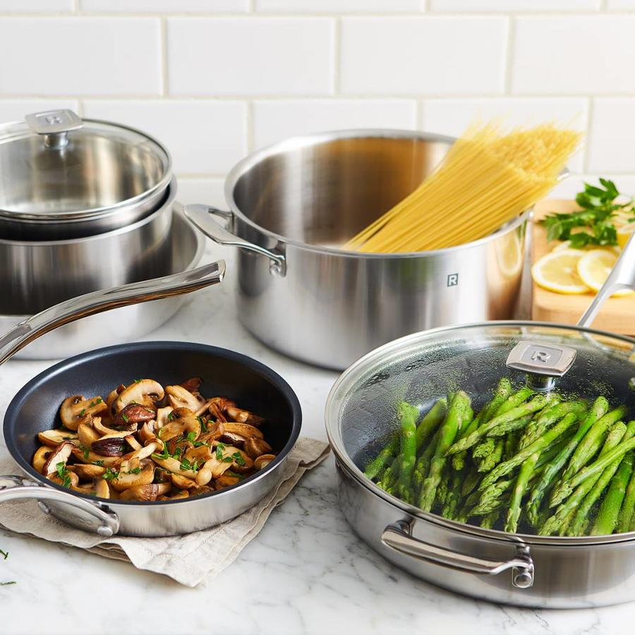 10-Piece 3-Ply Stainless Steel Cookware Set - Photo 1