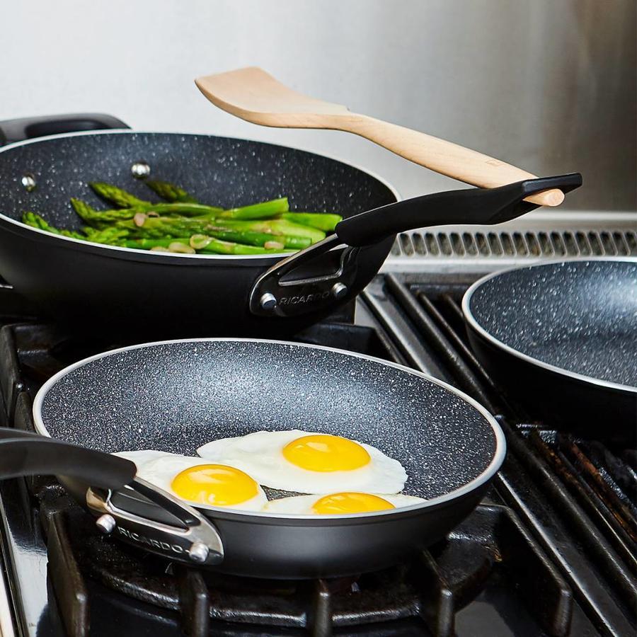 """The Rock"" 10-Piece Non-stick Aluminum Forged Cookware Set - Photo 1"