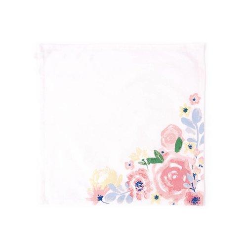 Serviettes de table fleuries