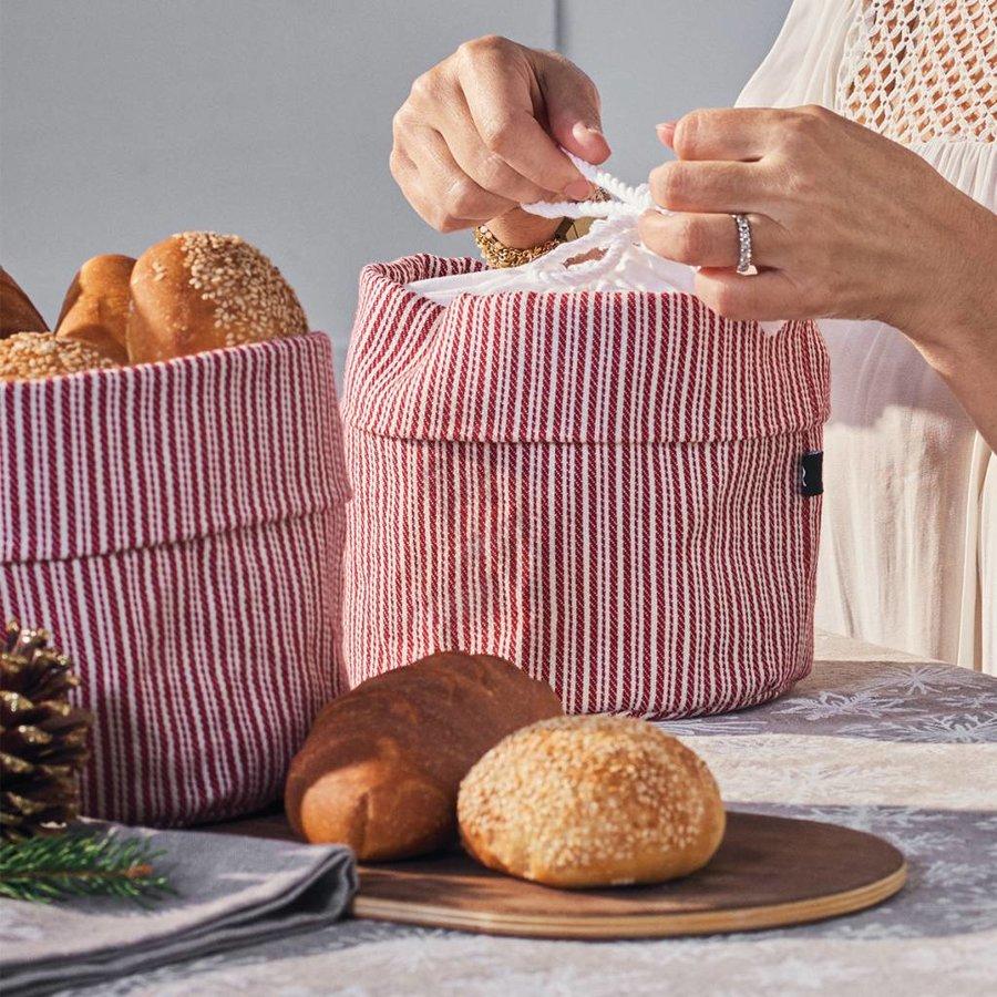 Sac à pain chaud rayé rouge et blanc - Photo 3