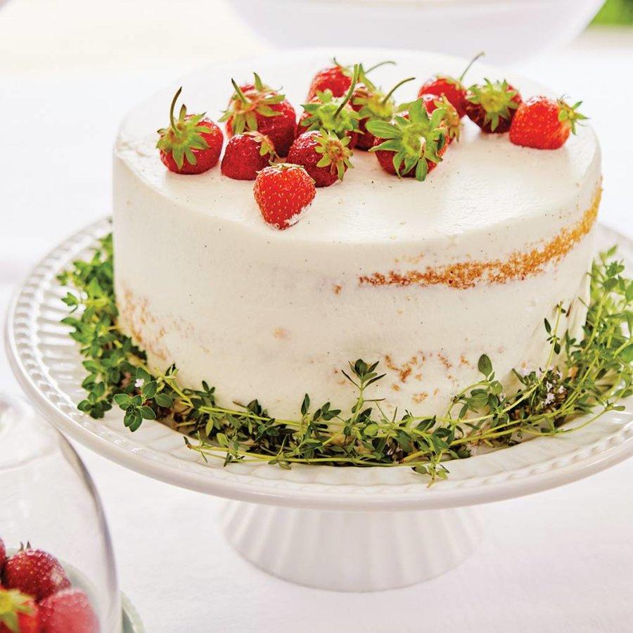 Assiette à gâteau sur pied «Tradition» - Photo 1