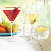 Ensemble de 4 verres à martini résistants aux chocs