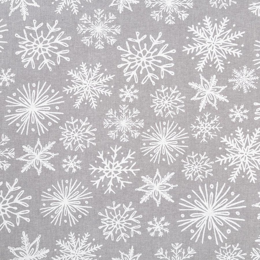 Grey Oven Mitts with White Snowflakes - Photo 1