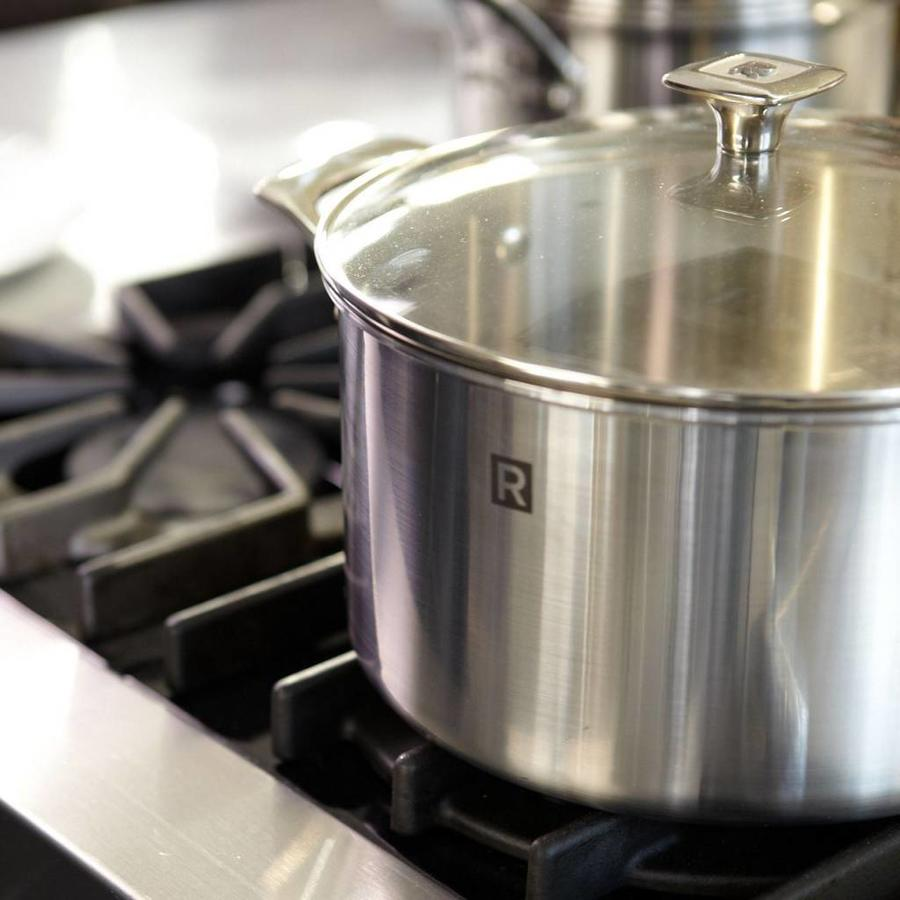 4 litres (4.2 qt) Stainless steel Saucepan - Photo 2