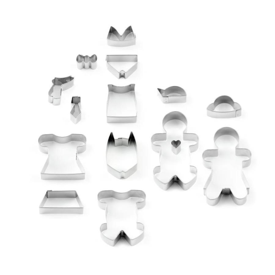 17-Piece Gingerbread Man Cookie Cutter Set - Photo 3