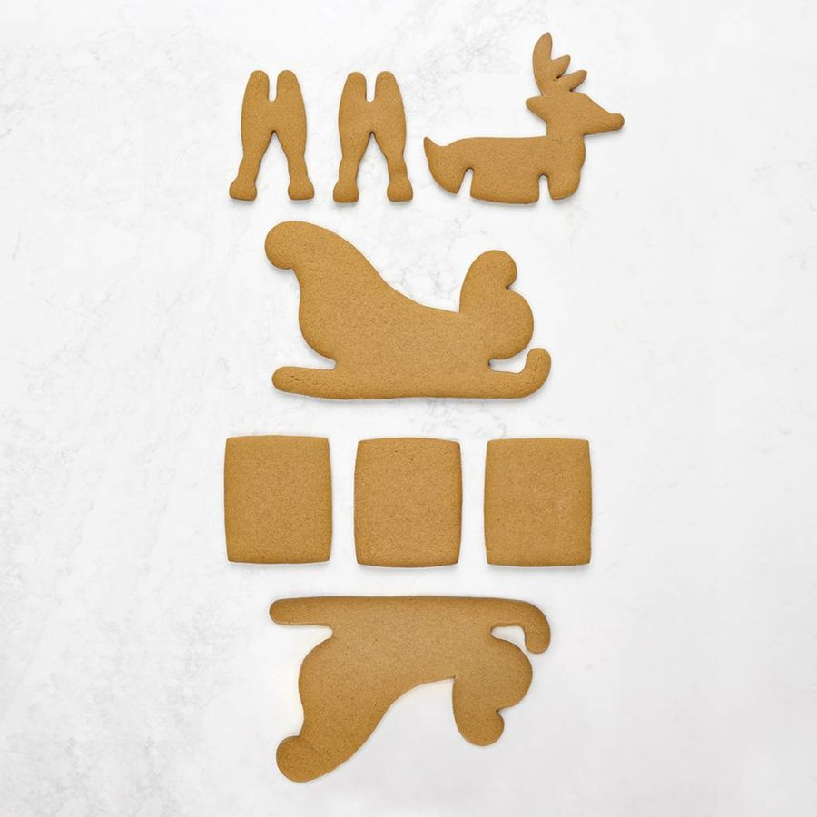3D Holiday Cookie Cutters Set with Reindeer and Sleigh Shapes - Photo 1