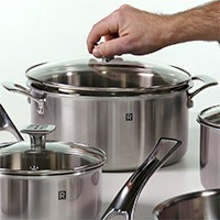 10-Piece 3-Ply Stainless Steel Cookware Set